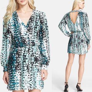 Parker Revolve Lila 100% Silk Open Back Dress S